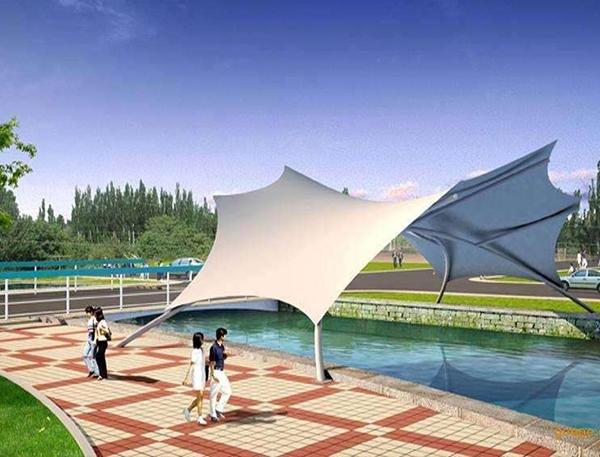 广场亭膜结构景观