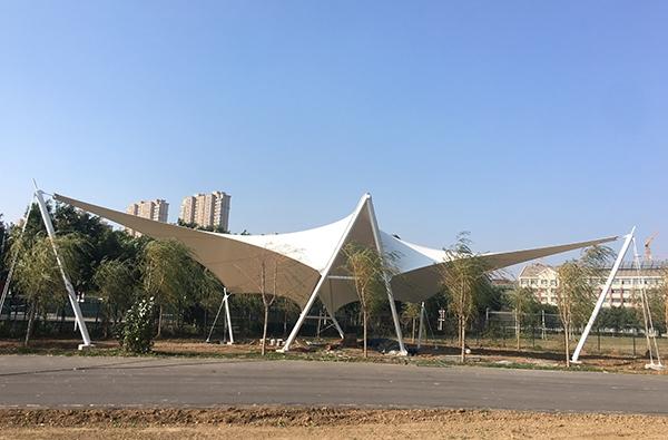沈陽體育學院膜結構遮陽棚