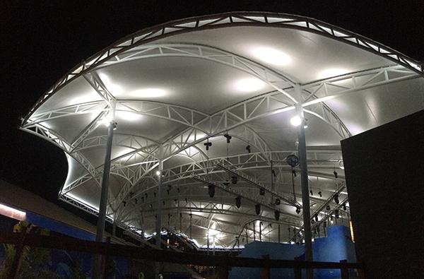 遊樂場膜結構遮陽棚