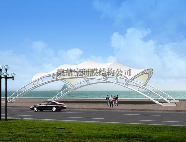 海滨景观广场膜结构