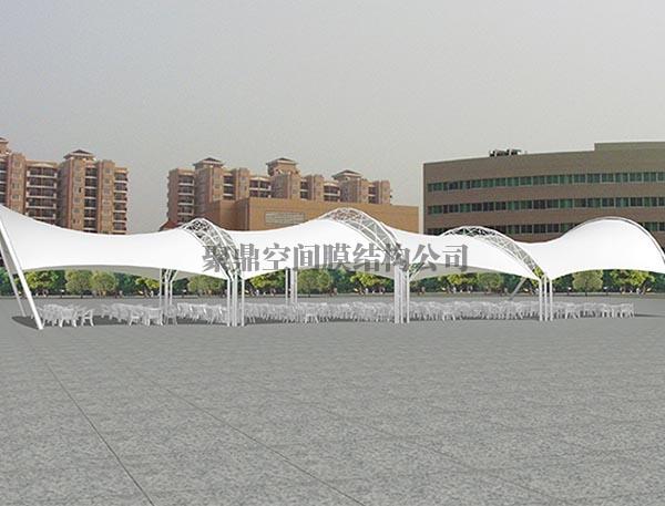 膜结构广场长廊