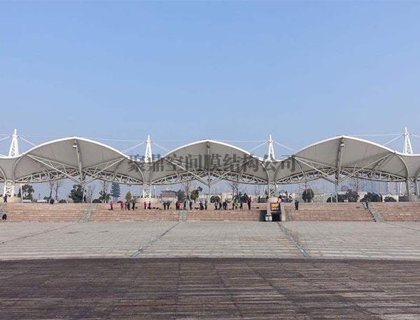 膜结构景观长廊