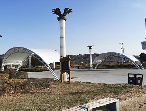 北海浴场景观膜结构亭